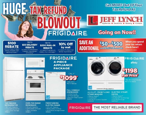 Tax Refund Blowout Front of Mailer
