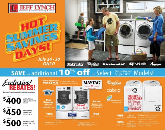 01LL2176WP Hot Summer Savings Front of Mailer