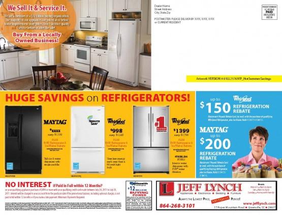 01LL2176WP Hot Summer Savings Back of Mailer