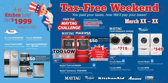 Tax Free Weekend Front of Mailer