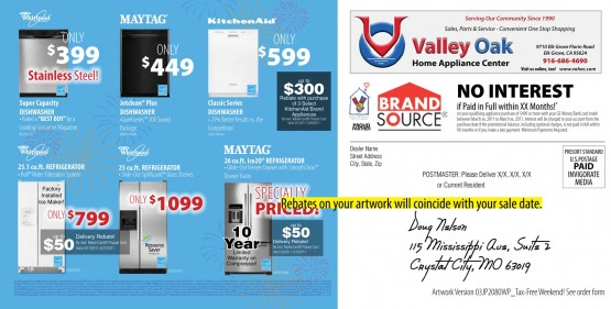 Tax Free Weekend Back of Mailer