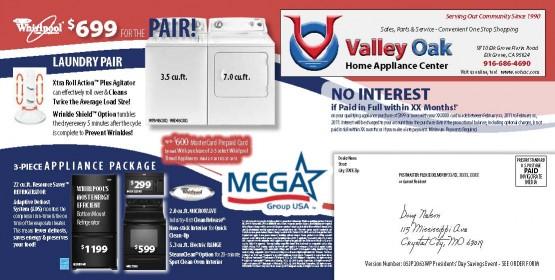 05JP2063WP Presidents' Day Sales Back of Mailer