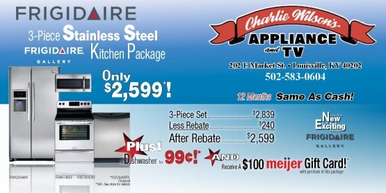 10288 Charlie Wilson Appliance Louisville KY Front of Mailer
