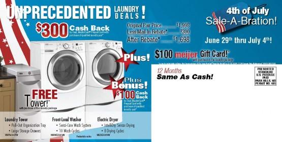 10288 Charlie Wilson Appliance Louisville KY Back of Mailer