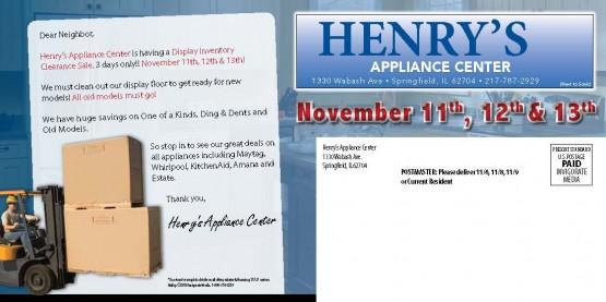 11737 Henrys App Springfield IL Back of Mailer