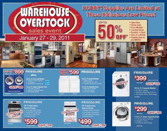 January Sales Event Front of Mailer