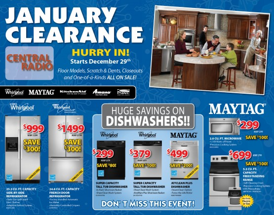 January Clearance Front of Mailer