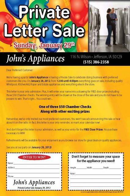 12526 John's Appliance Jefferson IA