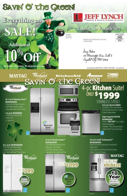 MM2091WP Savin' Green Front of Mailer