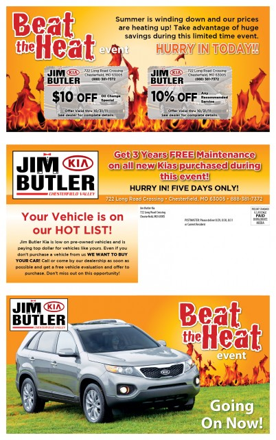 12216 Jim Butler Kia Chesterfield MO Front of Mailer